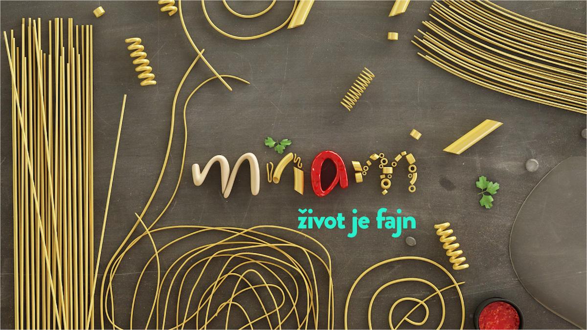 Grafika chystaného kanálu Mňam TV a jeho slogan. Zdroj: Axocom