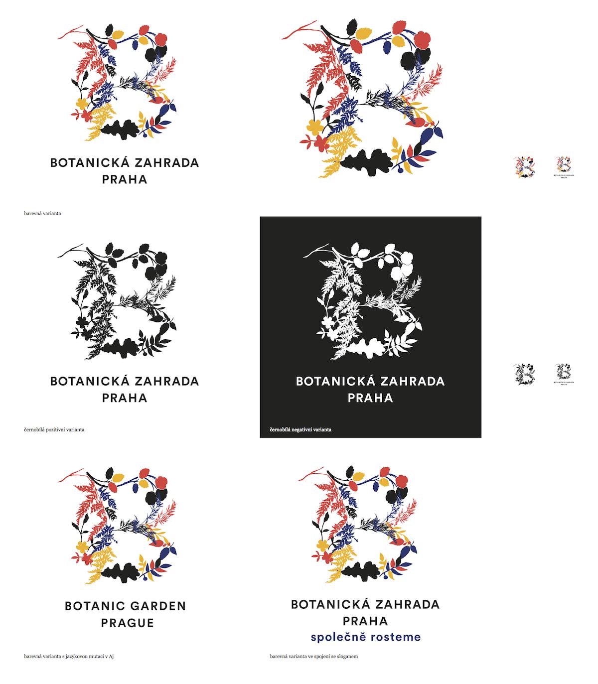 Logo Botanické zahrady Praha od Studia Najbrt