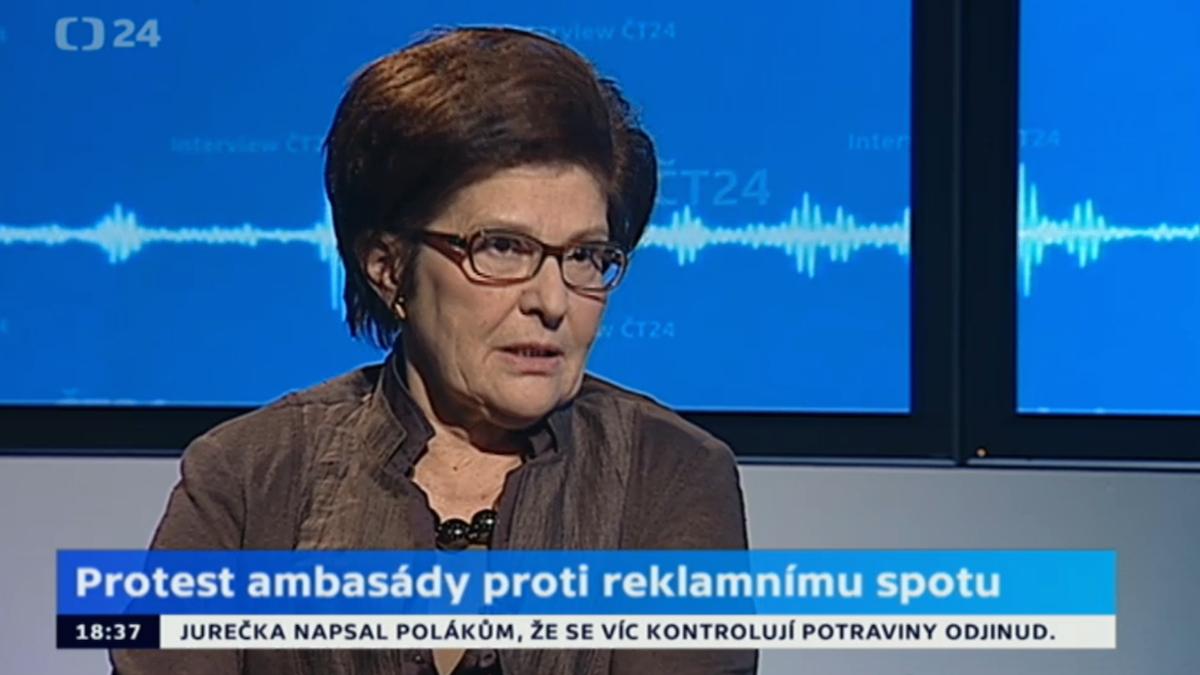 Polská velvyslankyně ve vysílání ČT24