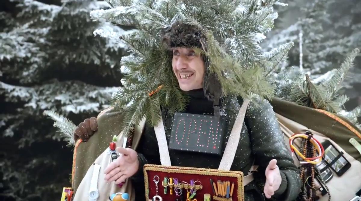 Obraz Poláka v reklamě české pobočky T-Mobilu roku 2014, v podání herce Jakuba Žáčka