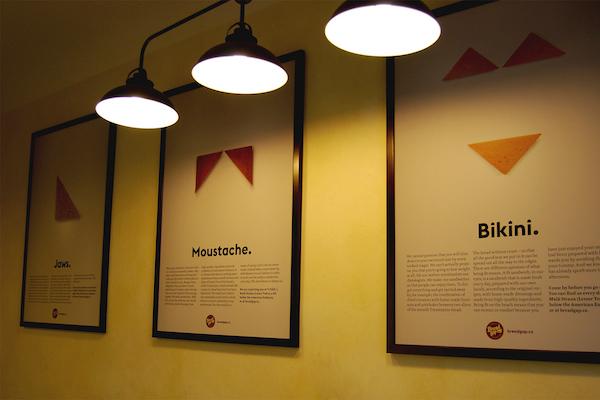 """""""Dokonce ani není problém s typografií,"""" zaujaly plakáty sendvičárny Bread Gap"""
