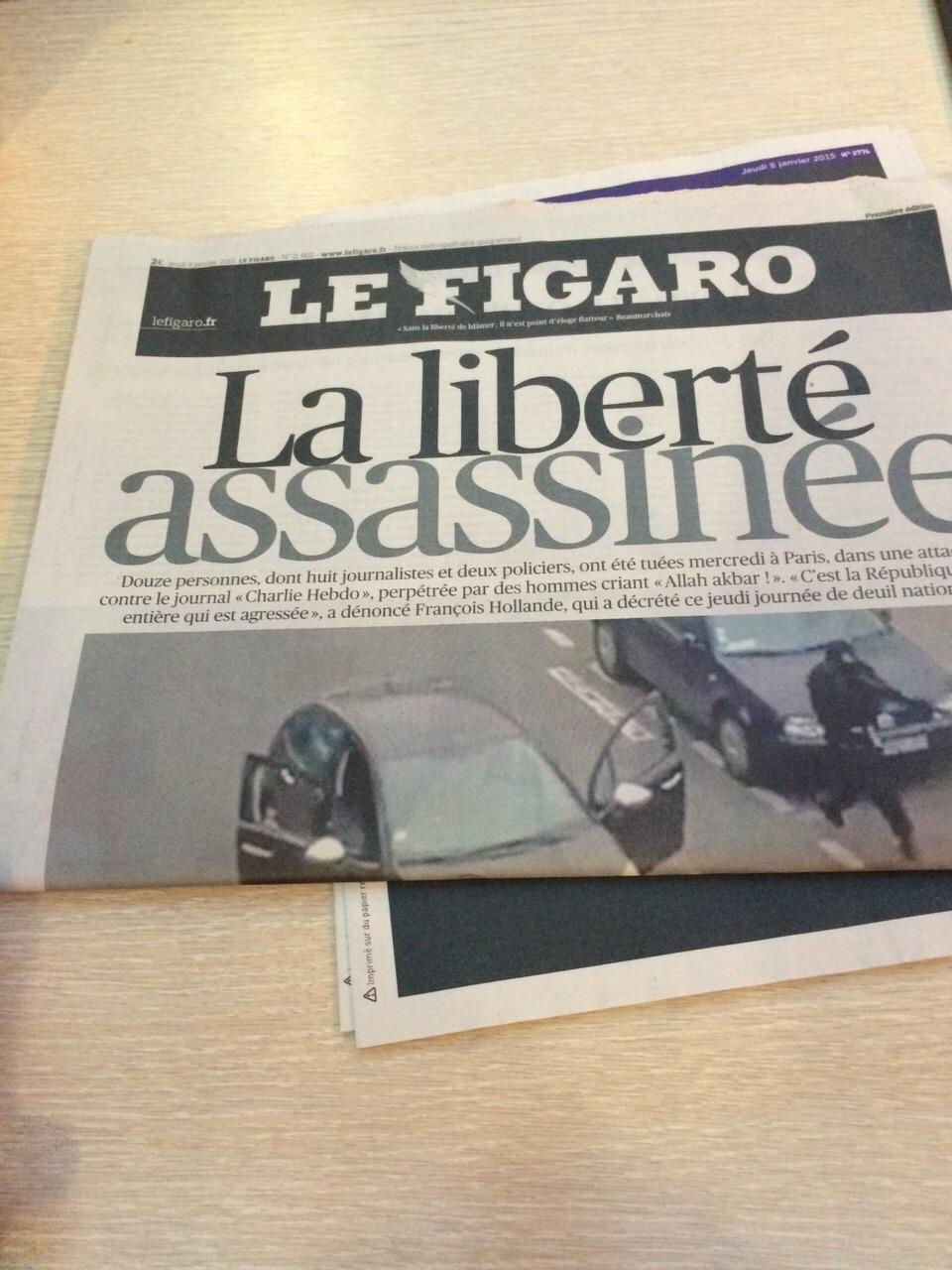 Le Figaro z 8. ledna 2015