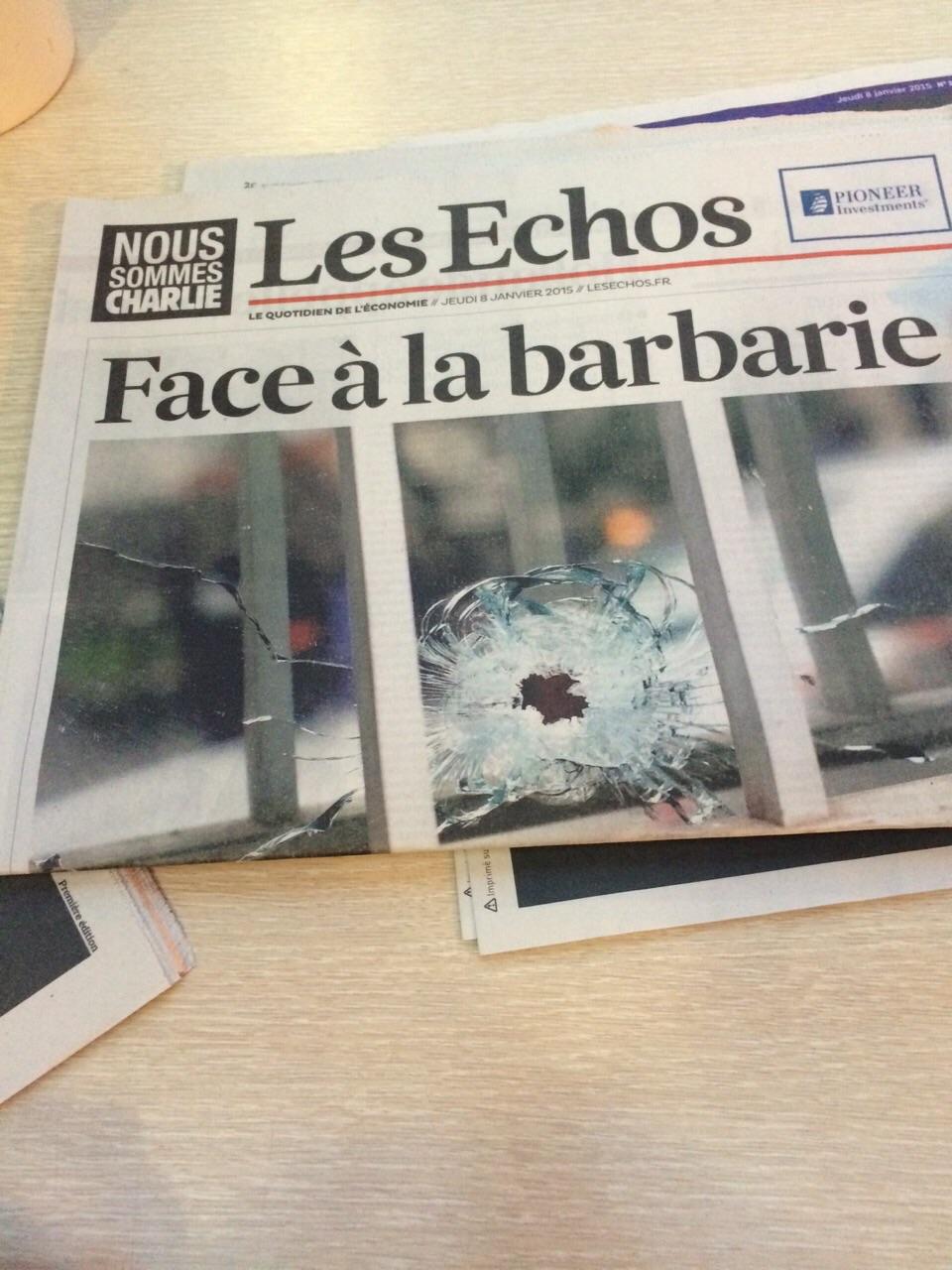 Les Echos z 8. ledna 2015