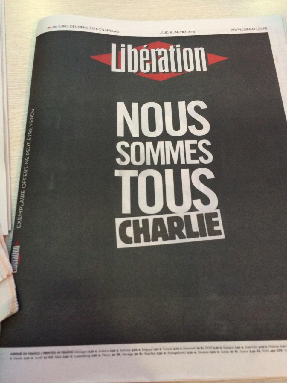 Libération z 8. ledna 2015