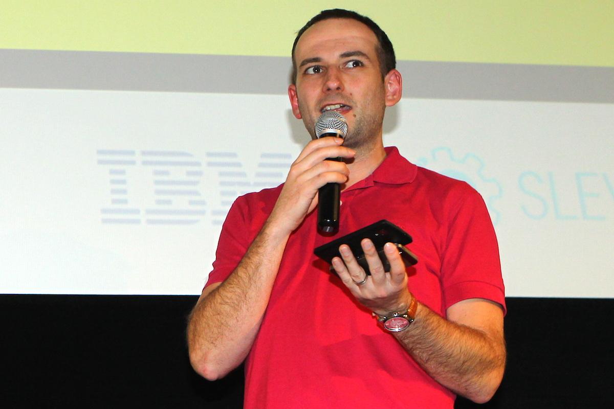 Na první AppParade Meet přijde i Michal Bilka, na snímku z AppParade v prosinci 2014. Foto: Tomáš Pánek