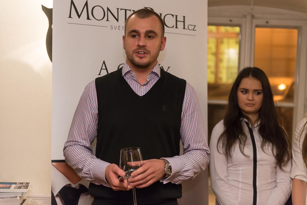 Vydavatel časopisu a webu MontyRich Milan Charvát na křtu časopisu. Foto: Tomáš Mach