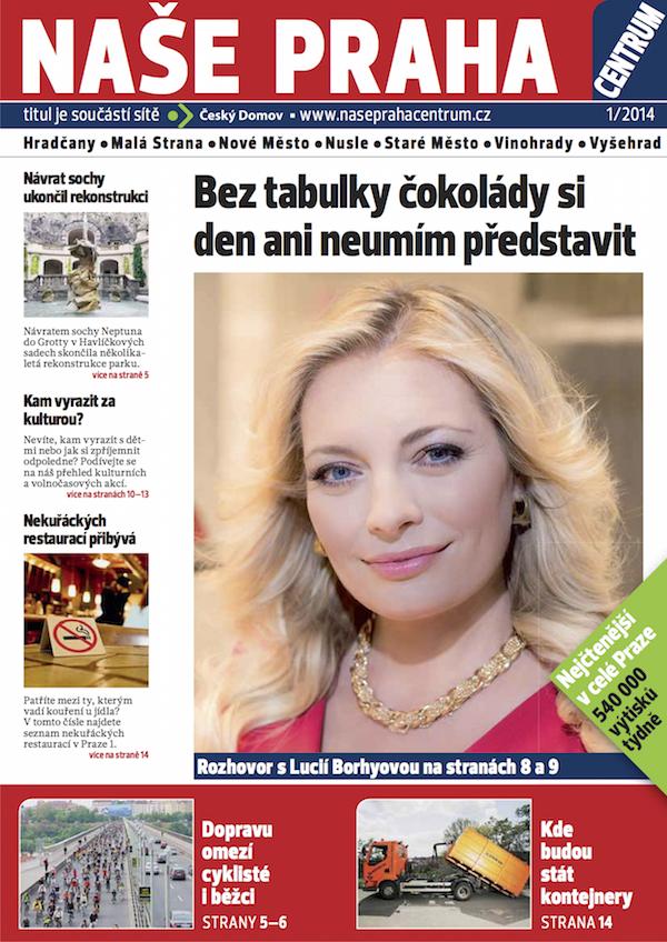 První číslo týdeníku Naše Praha, mutace pro centrum metropole