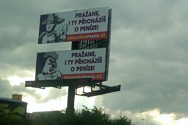Okradená Praha, hlásali proti předpisům provozovatelé billboardů loni na podzim