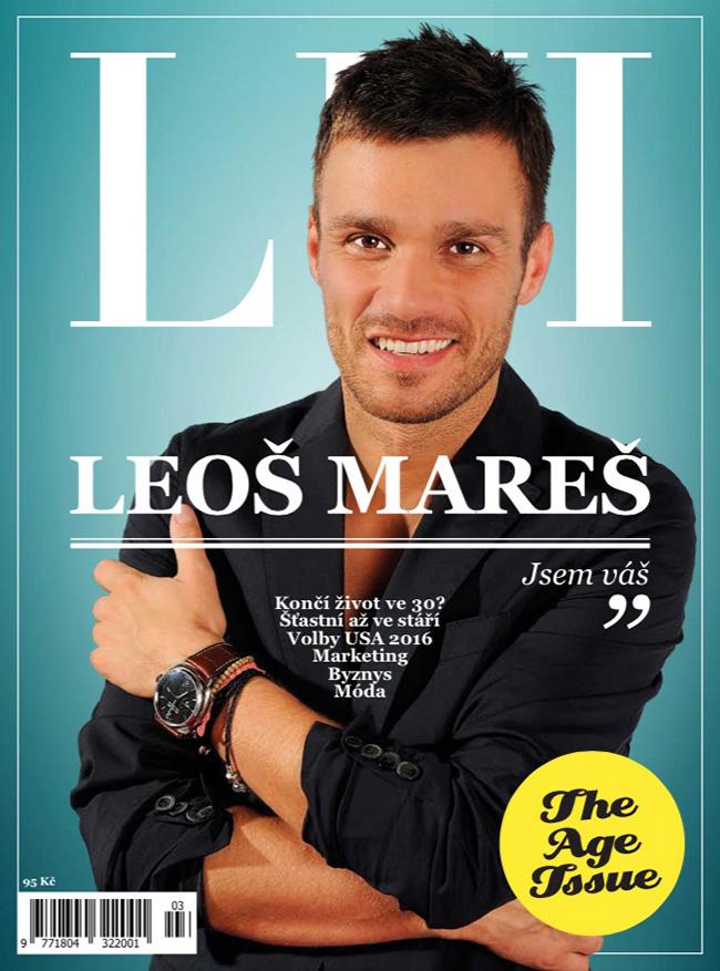 Titulní strana prvního čísla obnoveného magazínu Lui