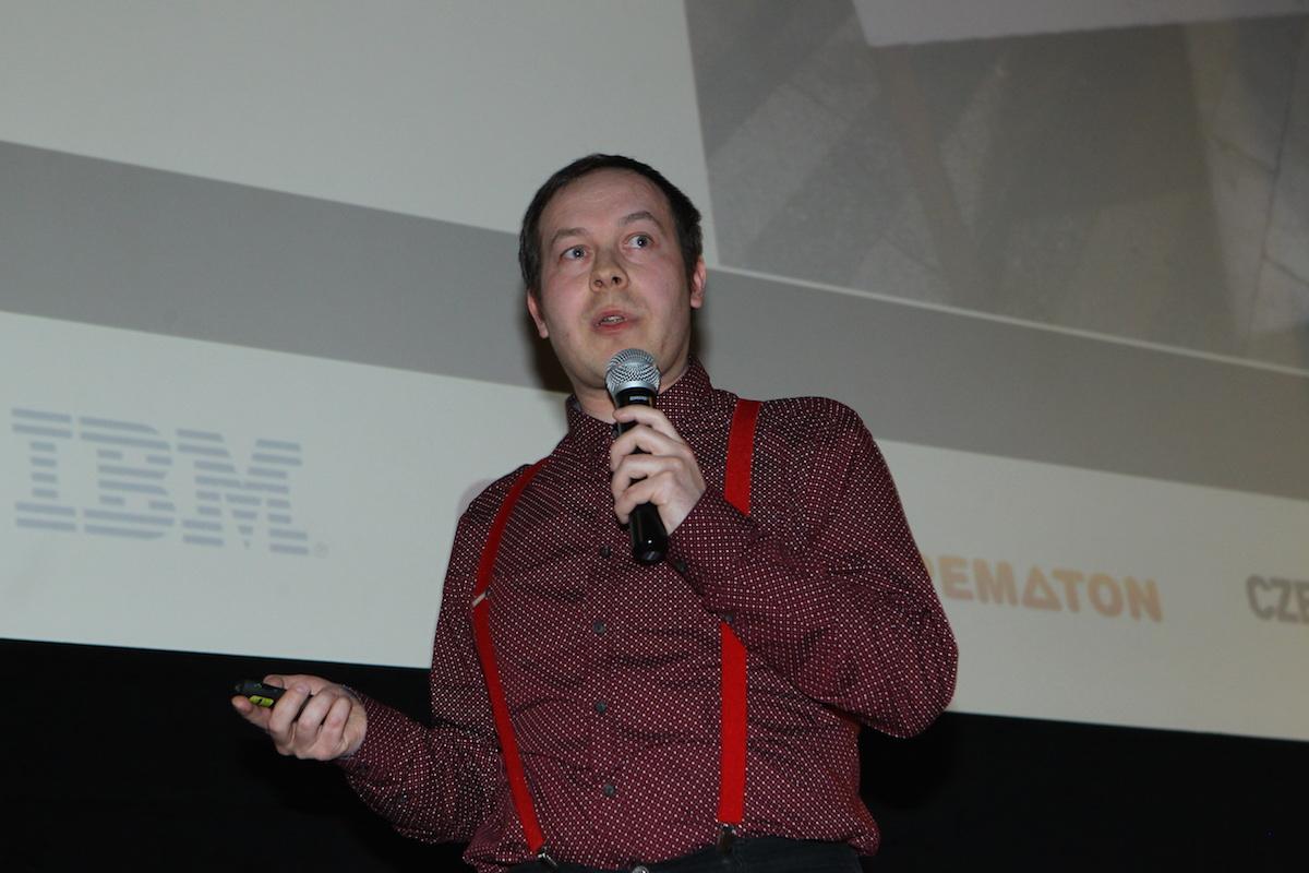 Aleš Najmann prezentuje Nejedem. Foto: Tomáš Pánek