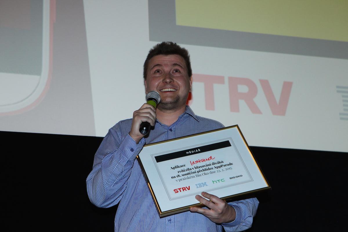 Vítěz osmnácté AppParade Lukáš Jezný. Foto: Tomáš Pánek