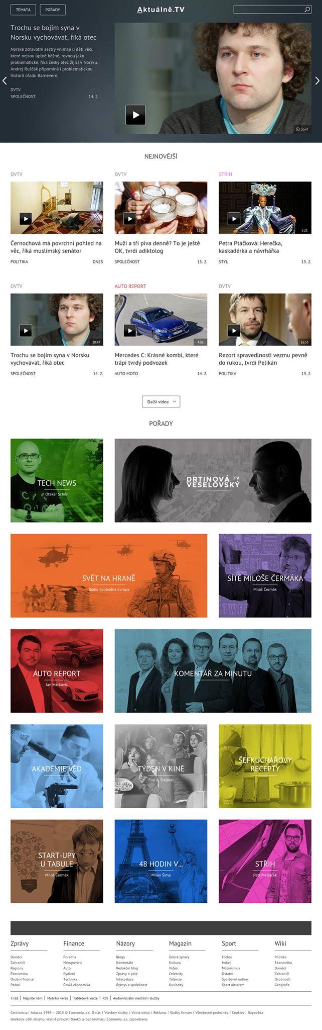 Titulní strana Aktuálně.tv