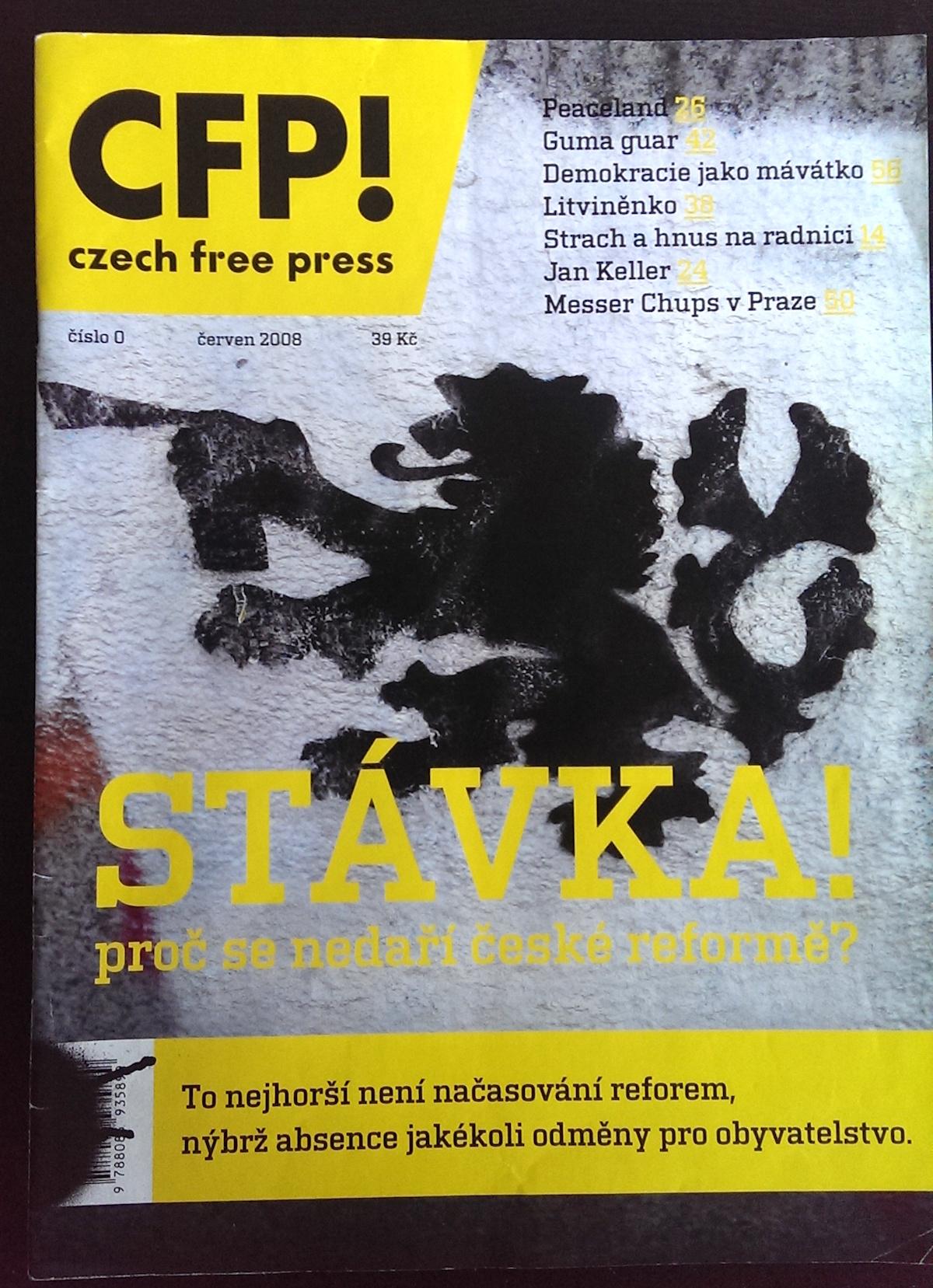 Před šesti lety v Česku začal vycházet časopis podobného názvu Czech Free Press...