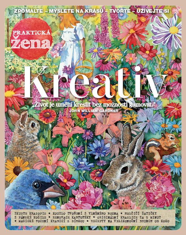 Obálka časopisu Praktická žena Kreativ