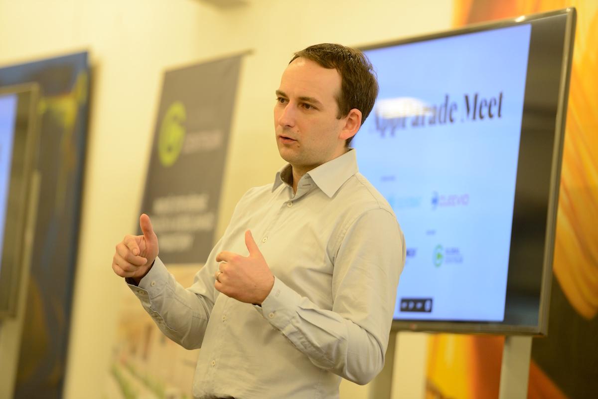 Michal Bilka na prvním setkání vývojářů AppParade Meet v březnu 2015. Foto: Martin Mašín