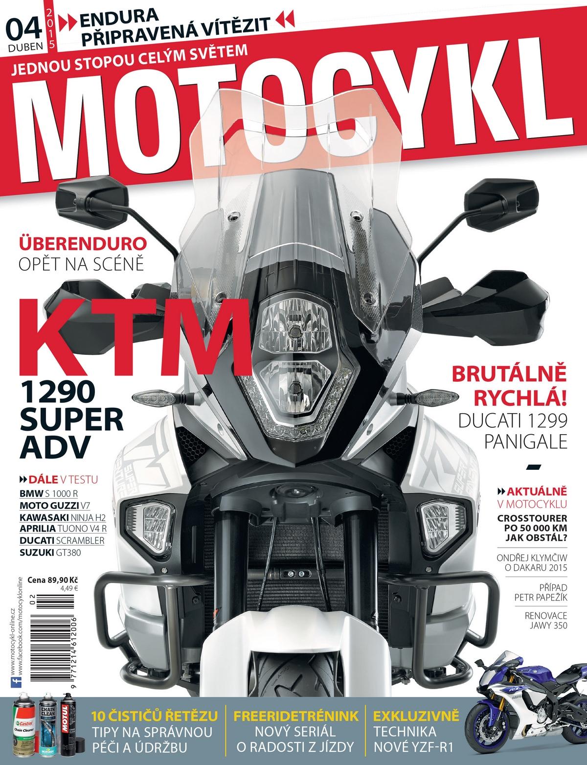 Nová podoba titulní strany časopisu Motocykl