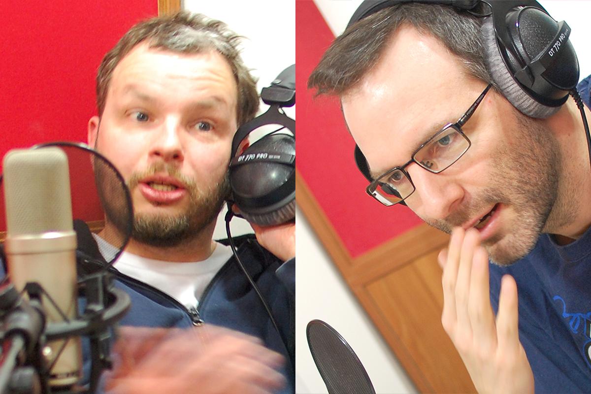 Marek Prchal a Ondřej Aust ve studiu rádia Expres v pražském Karlíně