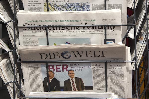 Peníze z webu pomohly ustálit příjmy německých novin