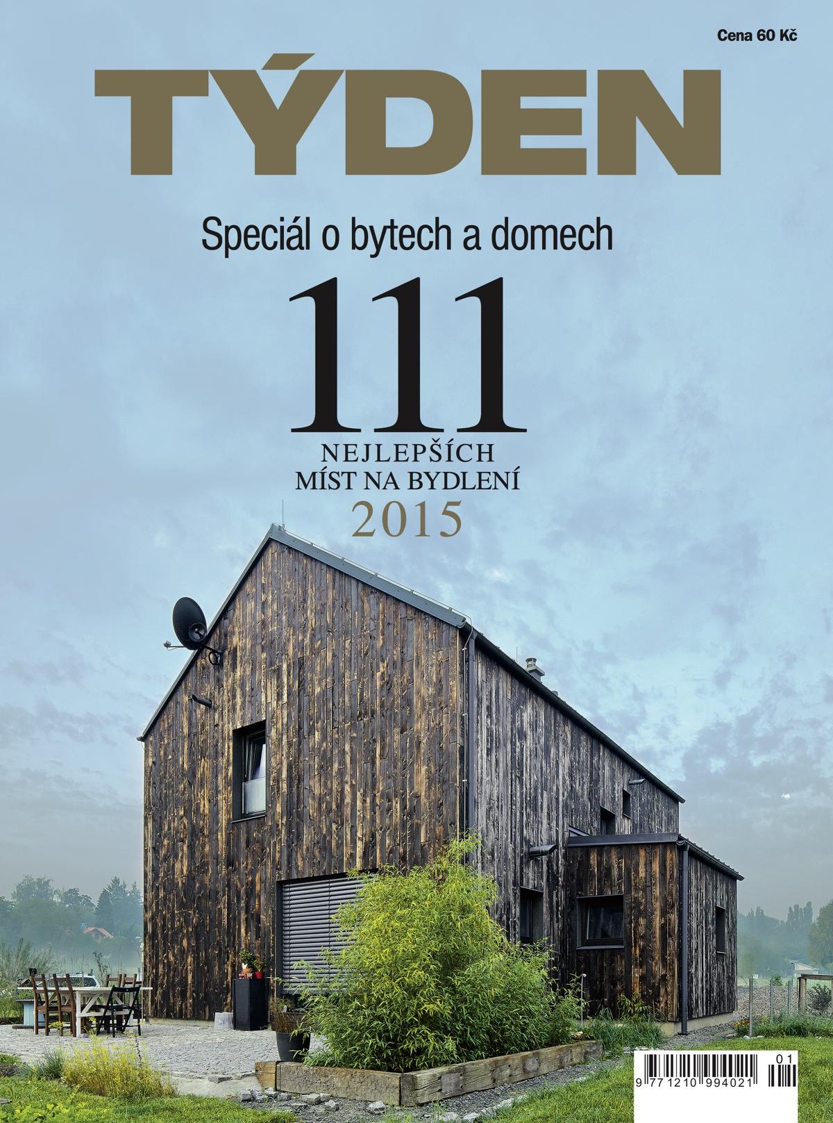 Titulní strana speciálu 111 nejlepších míst na bydlení 2015