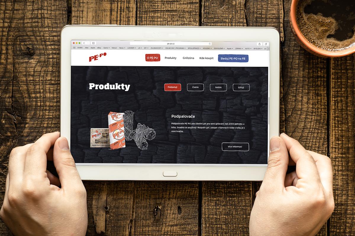 Nová prezentace značky Pe-po na webu