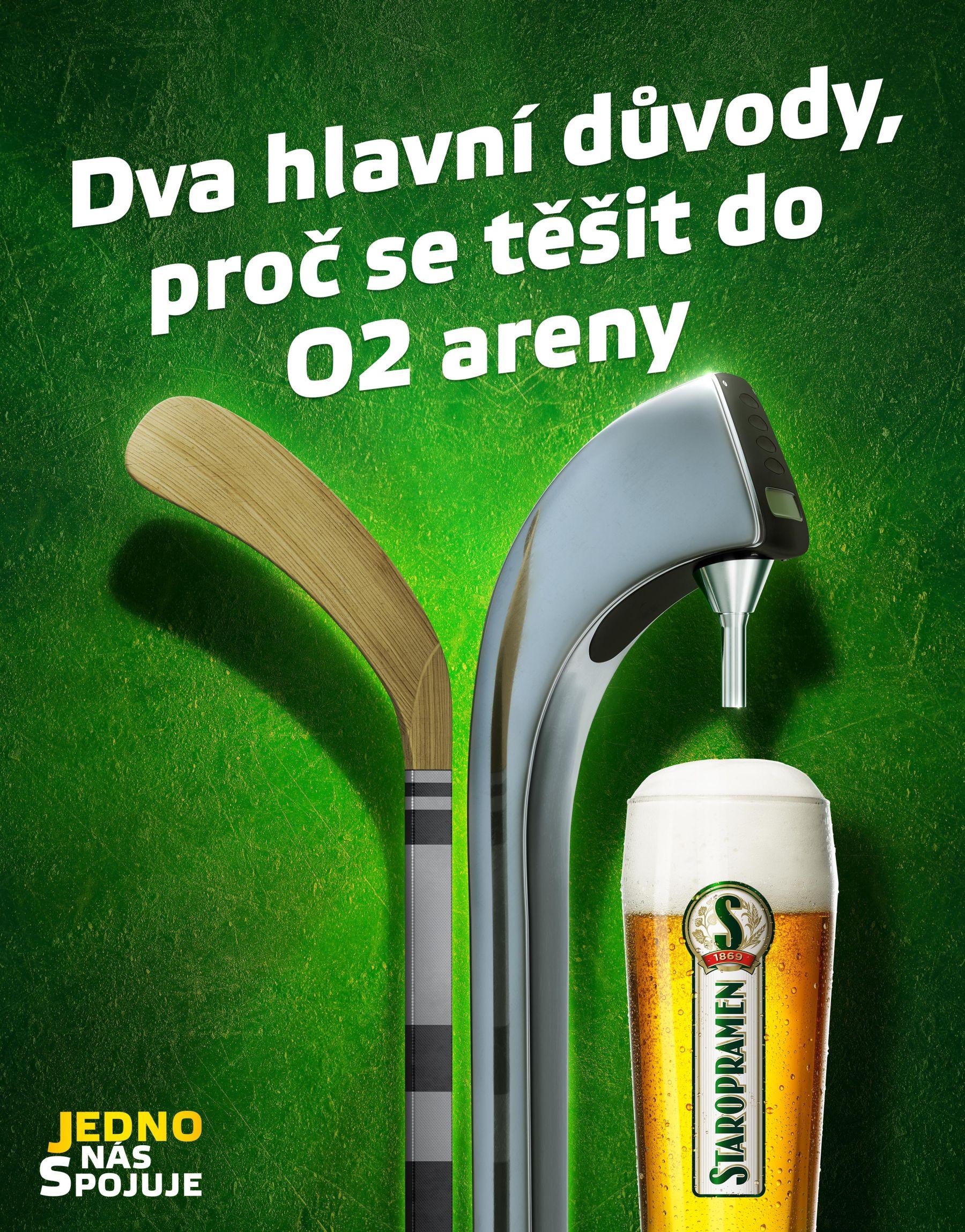 Staropramen zdůrazňuje v kampani partnerství s O2 Arénou
