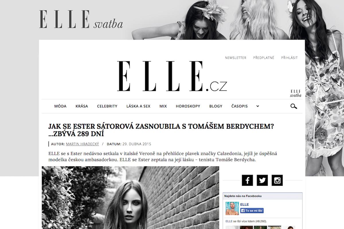 Záhlaví nové podoby Elle.cz