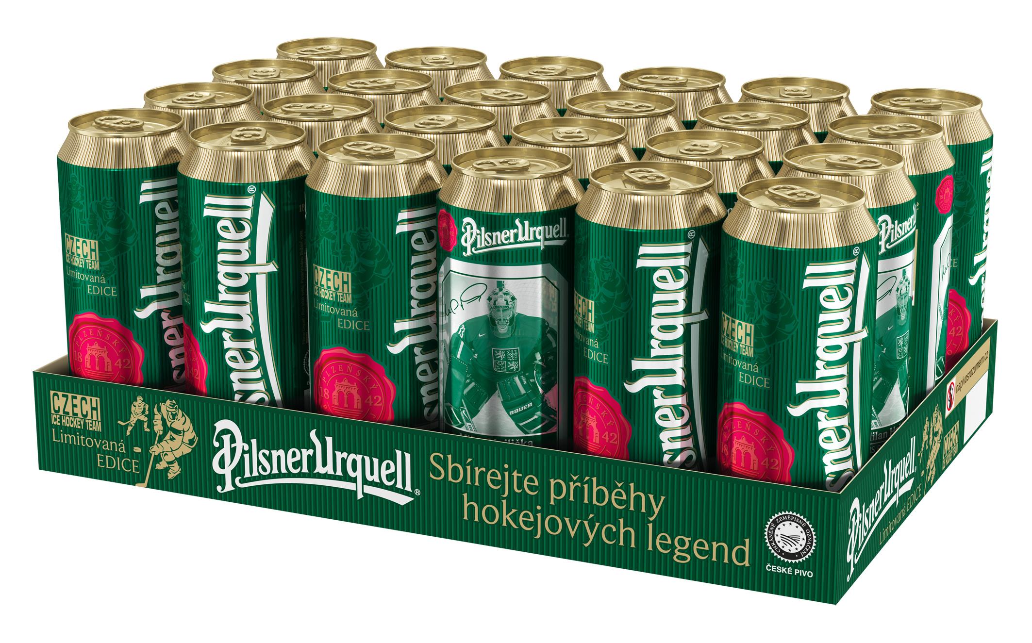 Pilsner Urquell uvedl na trh plechovky s hokejovými motivy