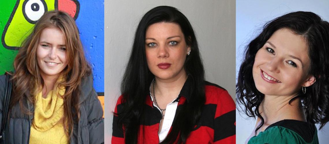 Zleva Andrea Havránková, Markéta Vesecká, Martina Němcová