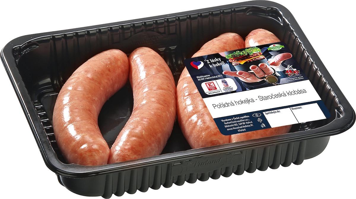 Speciální balení masa v Kauflandu k hokejové akci