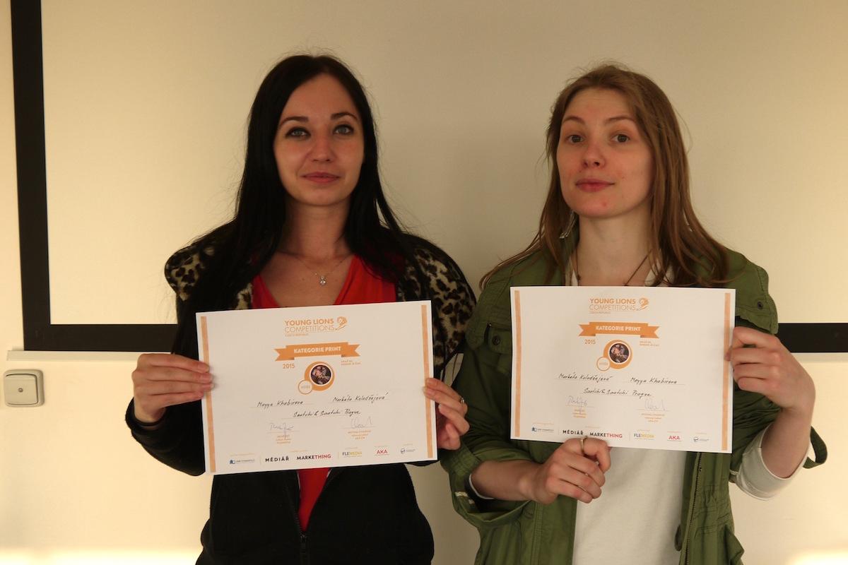 Vítězky Markéta Kolodžejová a Mayya Khabirova. Foto: Honza Marcinek, Flemedia