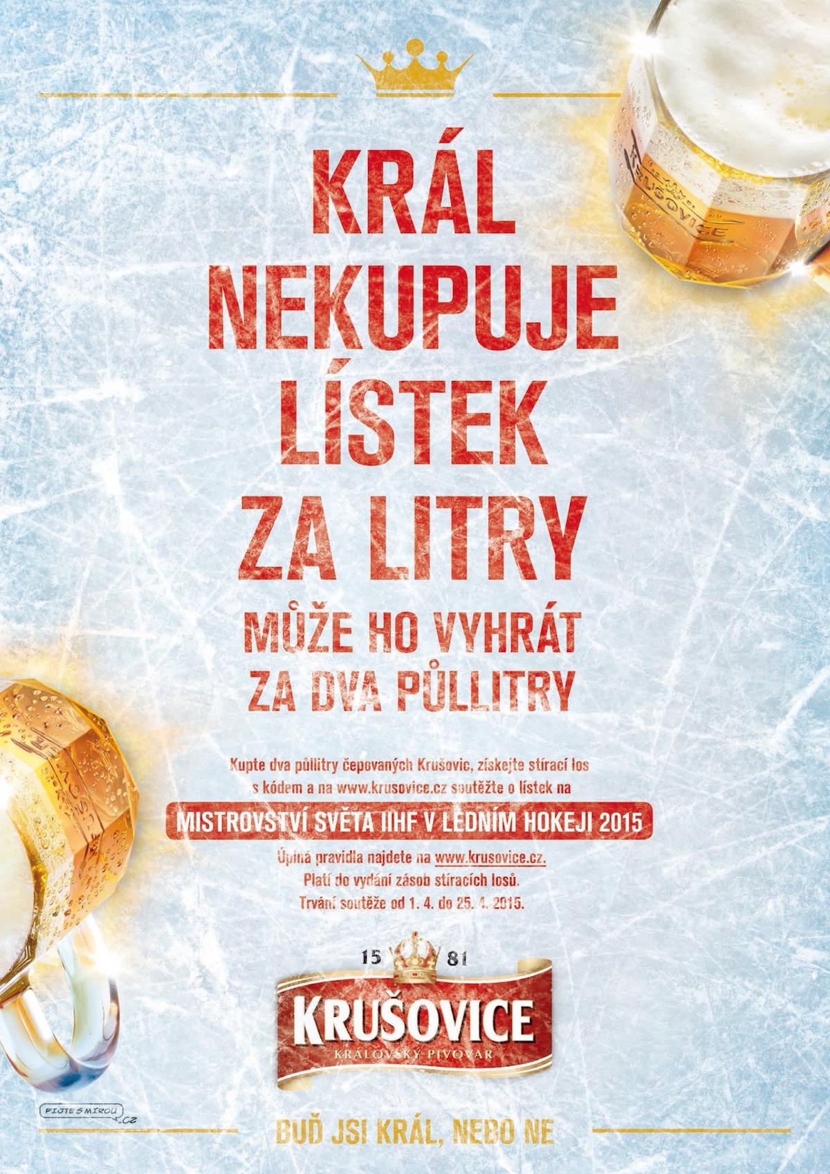 Kampaň značky Krušovice k hokejovému mistrovství