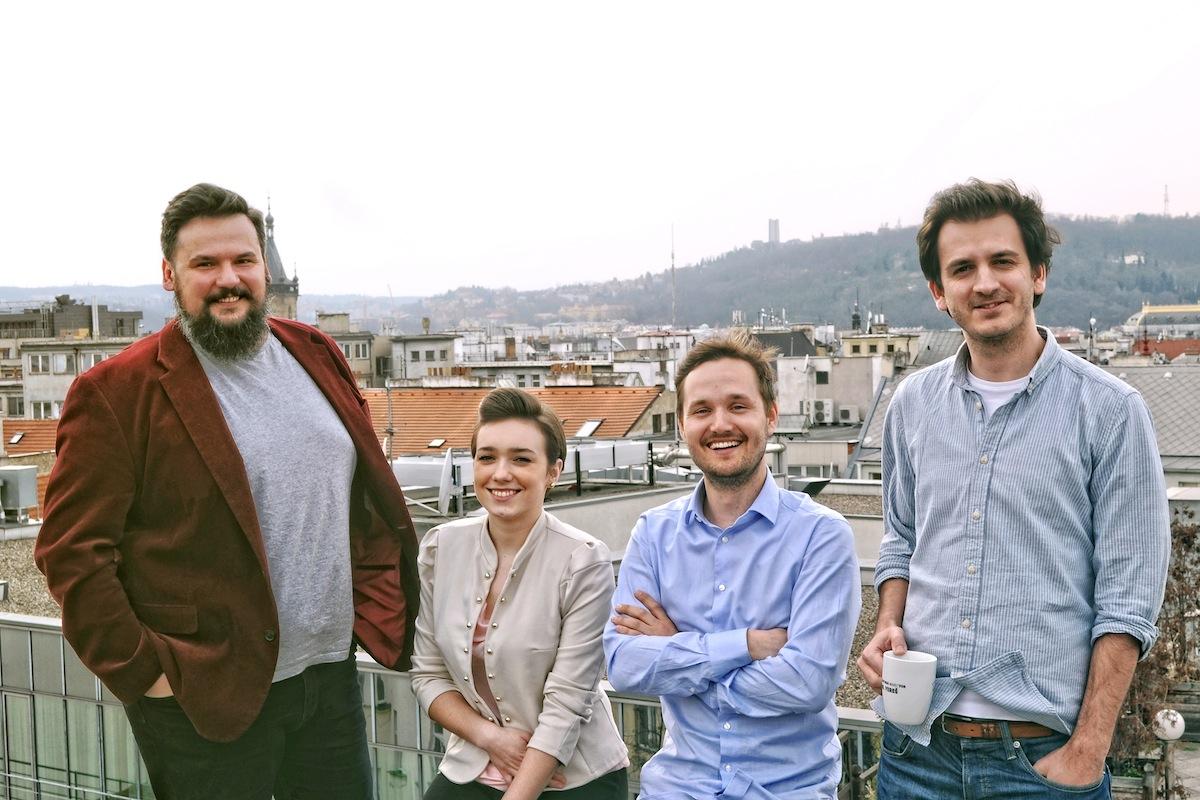 Digitální tým téměř kompletní. Zleva Štefan Novosad, Jana Vrabcová, Ivo Mrena a Jozef Vereš.