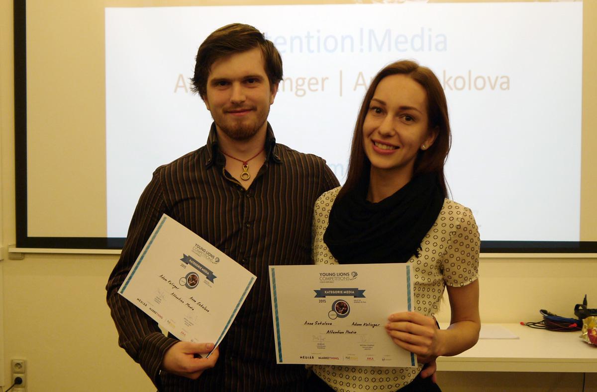 Bronzoví Adam Kolinger a Anna Sokolova. Foto: jan Marcinek