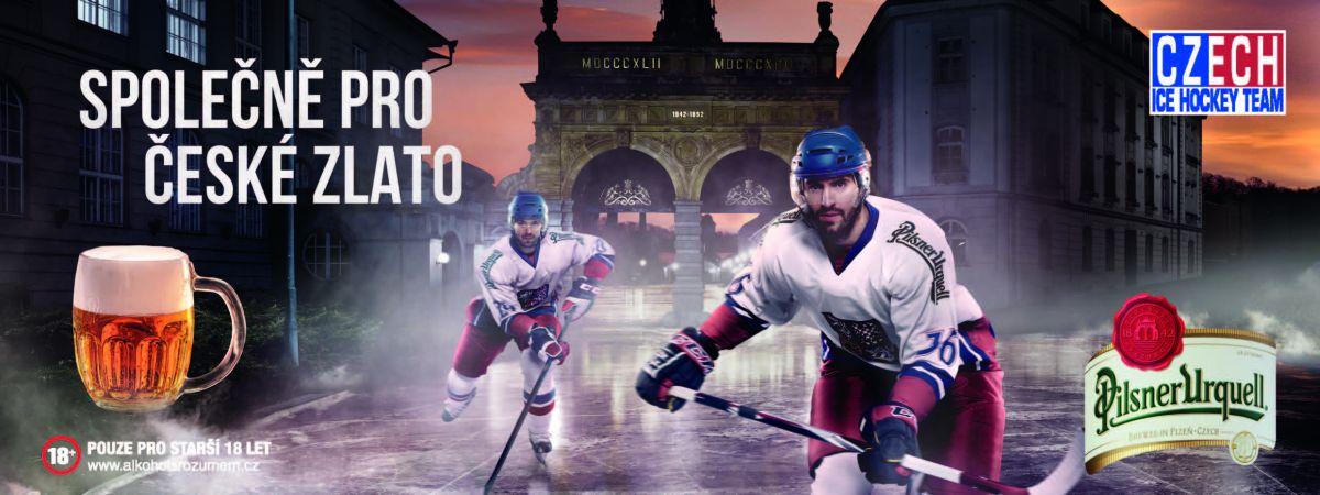 Pilsner Urquell spojuje hokejové motivy s Plzní