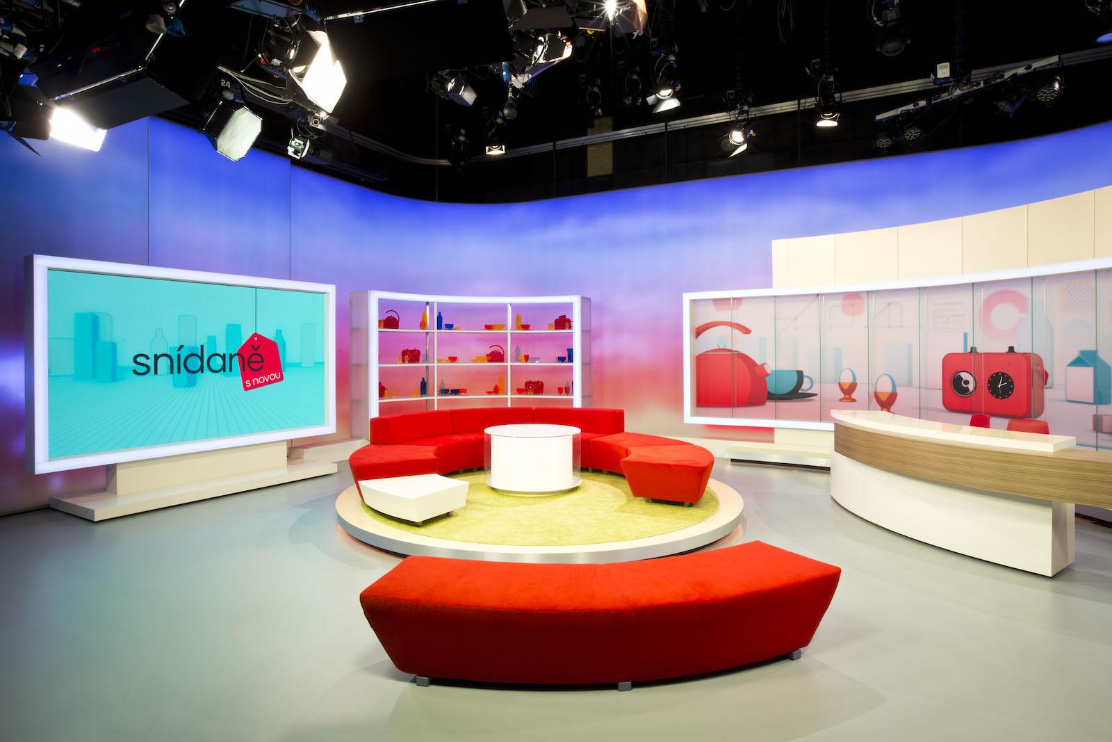 Nové studio Snídaně s Novou
