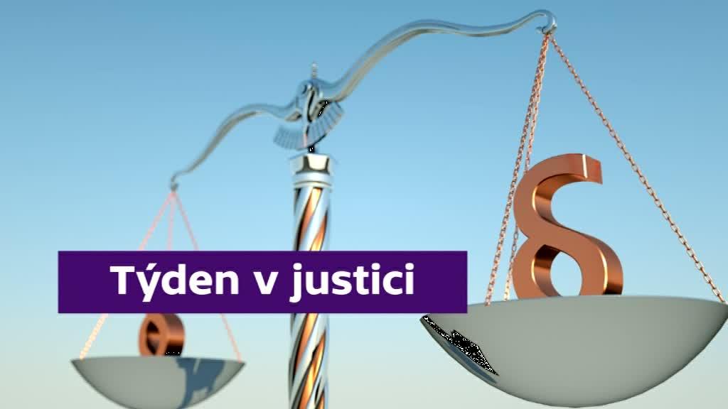 Grafika pořadu Týden v justici