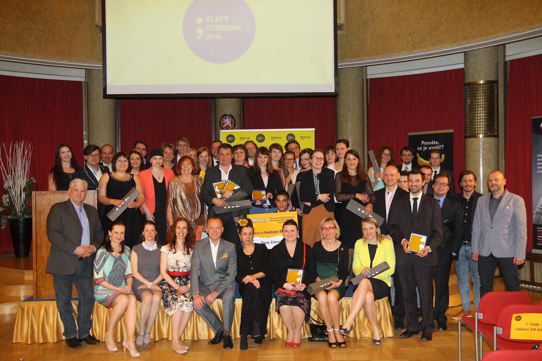 Vítězové Zlatého středníku 2014. Foto: Tomáš Pánek