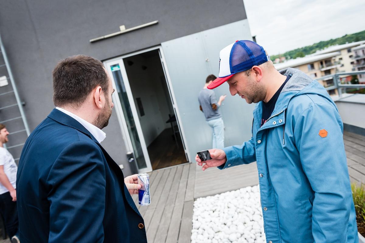 Tomáš Votruba (vpravo) v hovoru s Michalem Bařinou, vydavatelem Médiáře
