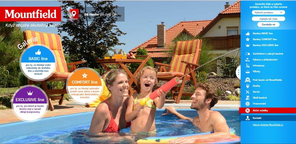 Čerstvou novinkou v e-shopu Mountfieldu je nabídka bazénů