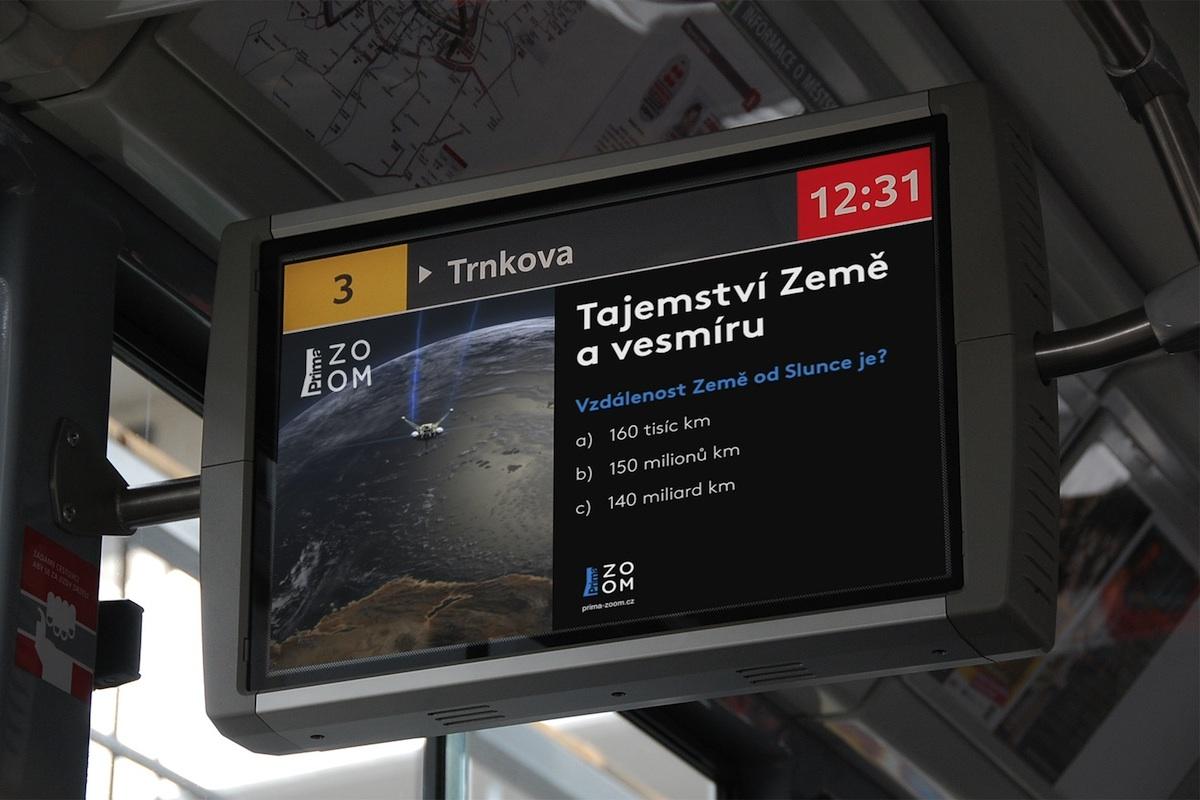 Vědomostní kvízy v Bus TV budou odkazovat na dokumenty vysílané Primou Zoom