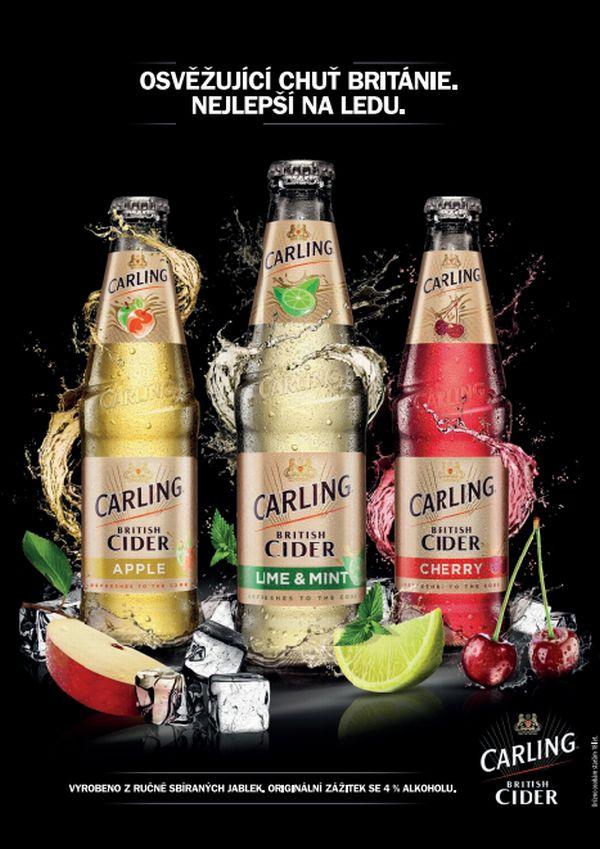 Portfolio značky Carling British Cider doplnily nové příchutě