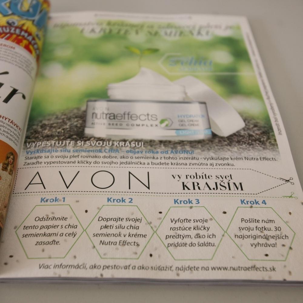 Kampaň Avonu se semínky