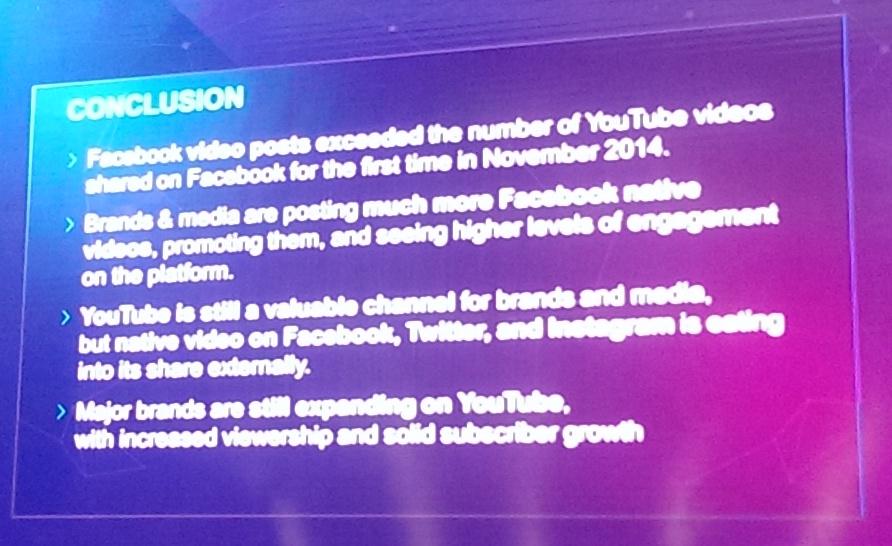 Počet příspěvků na Facebooku s videem nahraným přímo na tuto síť v listopadu 2014 překonal počet těch s klipy z YouTube