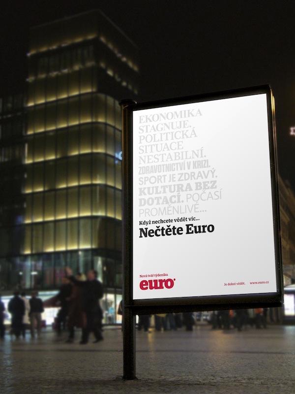 S novým písmem a grafikou od Marvilu se Euro představovalo v červnu 2011
