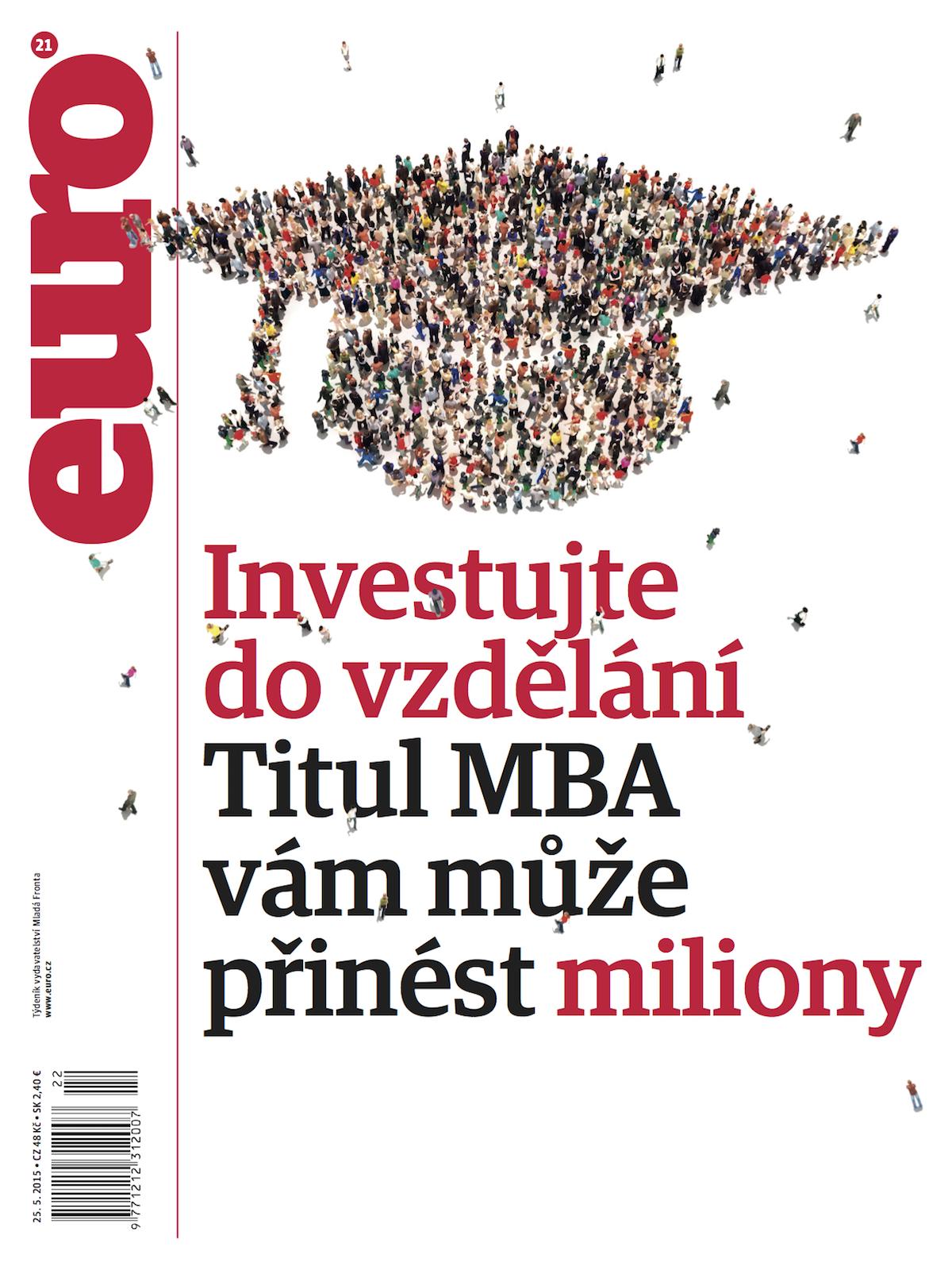 Nový design titulní strany časopisu Euro