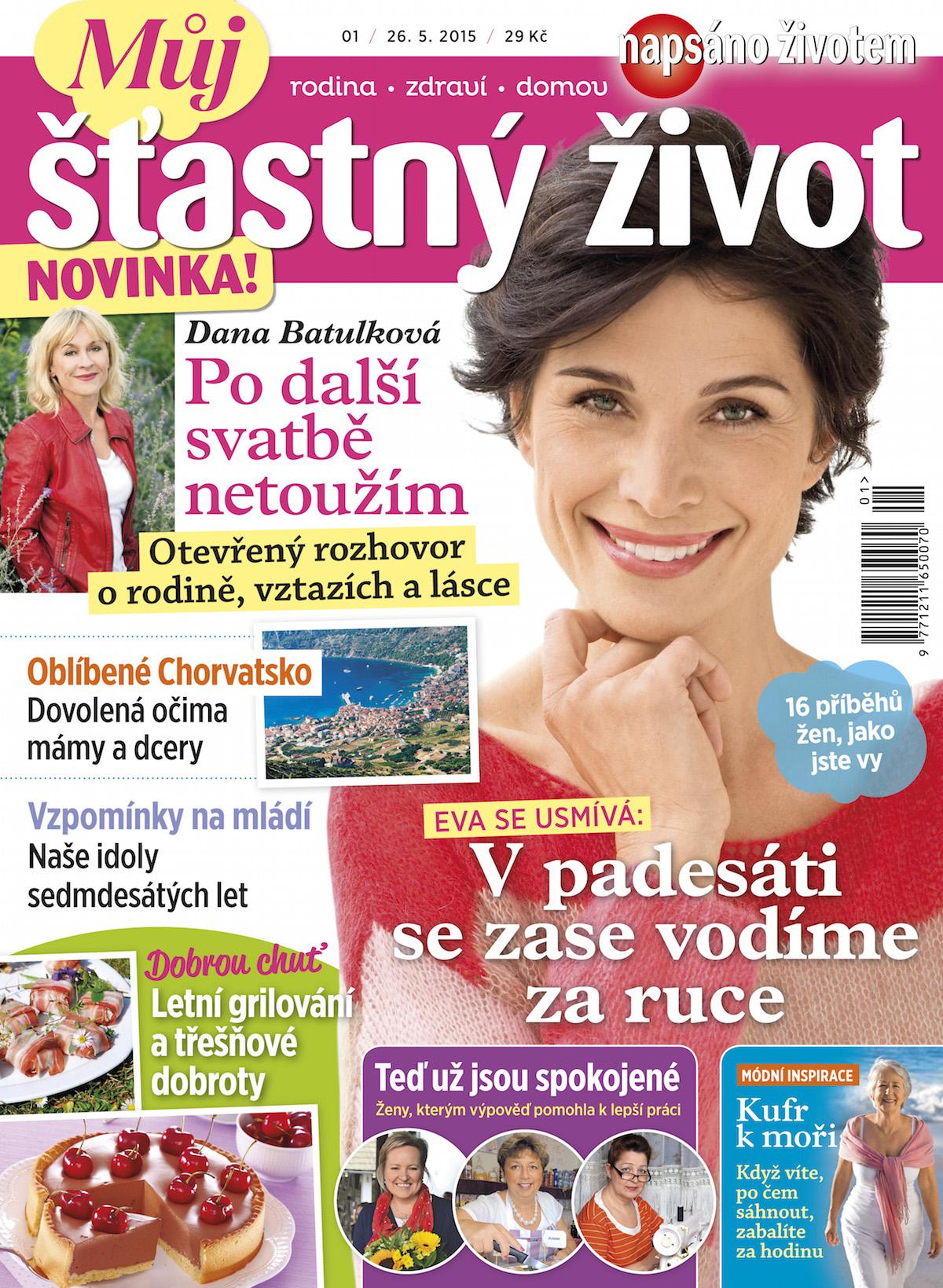 Titulní strana časopisu Můj šťastný život