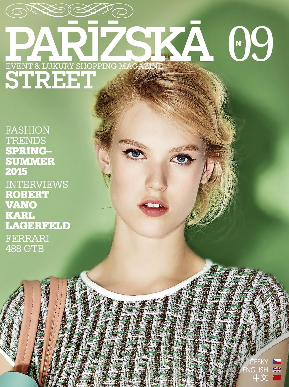 Obálka magazínu Pařížská