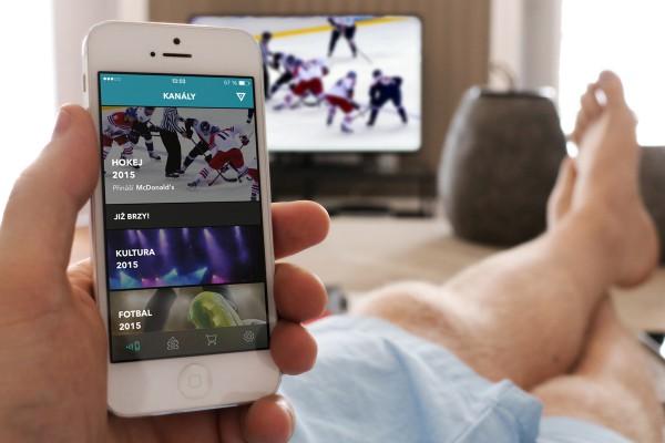 Virgla propojuje přenosy hokeje s mobilem