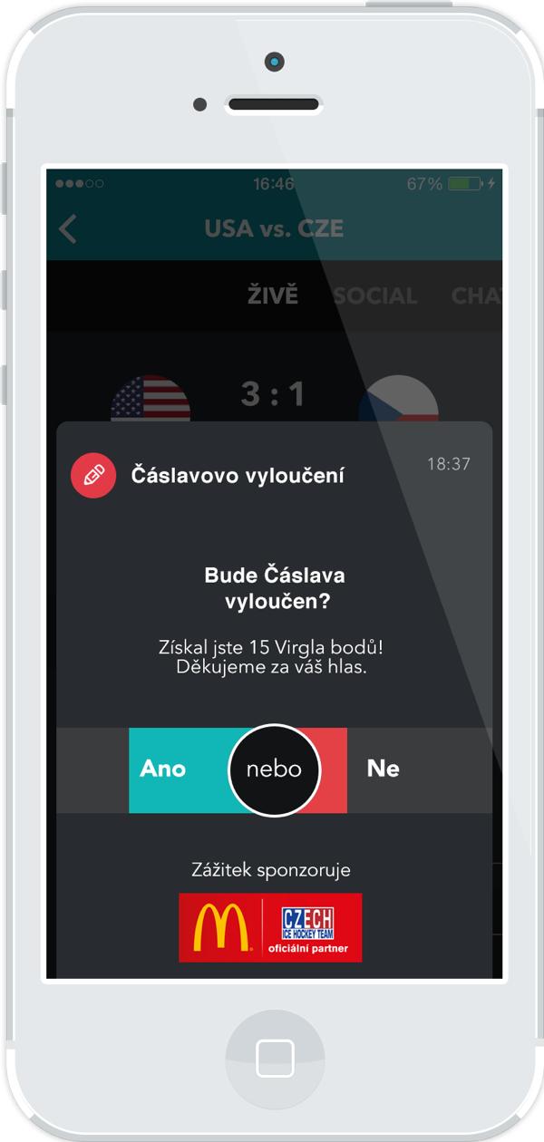 Hlasování v aplikaci Virgla