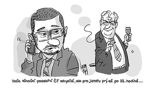 Mezi častá témeta Kemelových kreseb patří Miloš Zeman